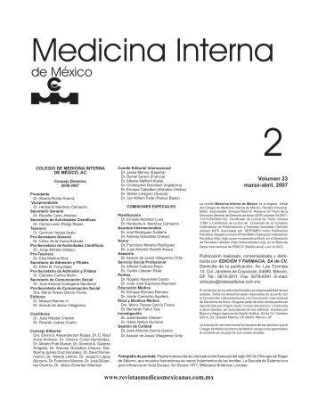 Marzo-Abril - Colegio de Medicina Interna de México AC | CMIM