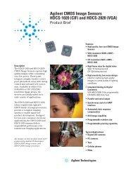 Agilent CMOS Image Sensors HDCS-1020 (CIF) and HDCS-2020 ...