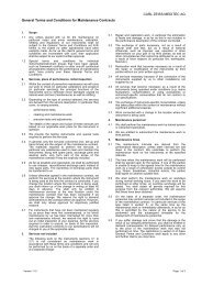 General Terms and Conditions for Maintenance ... - Carl Zeiss, Inc.