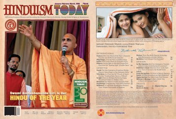 Hinduism Today January 2009 - Cover, Index, Front Articles