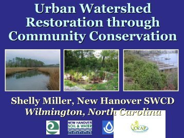 Urban Watershed Restoration through Community Conservation