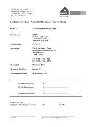 LV Stahlblechtüren + Tore - Friedrich Schütt + Sohn Baugesellschaft ...