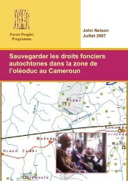 Sauvegarder les droits fonciers autochtones dans la zone de l ...