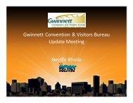 Gwinnett Convention & Visitors Bureau Update Meeting Neville Bhada