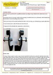 Page: 1 BA-7500-67 Rear Lowering Kit Honda Shadow ACE 750 ...