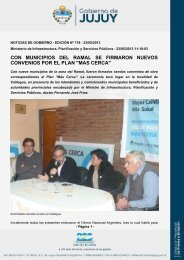 con municipios del ramal se firmaron nuevos convenios por el plan