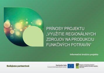 Prínosy Projektu - Nyugat-Magyarországi Egyetem Mezőgazdaság