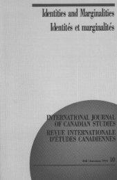Identities and Marginalities/Identités et marginalités - Conseil ...