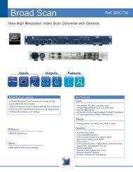 BSC730 Technical Datasheet (PDF) - Analog Way