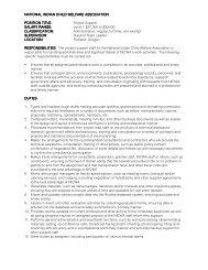 PROJECT SUPPORT Job Description - National Indian Child ...