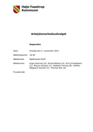 Arbejdsmarkedsudvalget - Høje-Taastrup Kommune