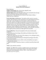 Microbial Pathogenesis - Wadsworth Center