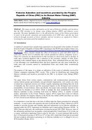 Fisheries Subsidies and Incentives provided by the PRC to its DWF ...