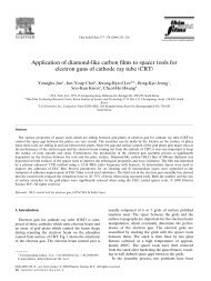 Application of diamond-like carbon films to spacer tools for Ž ...