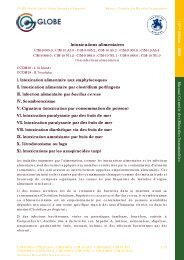 Intoxications alimentaires - GLOBE Network