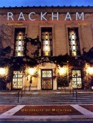 Rackham Graduate School - University of Michigan