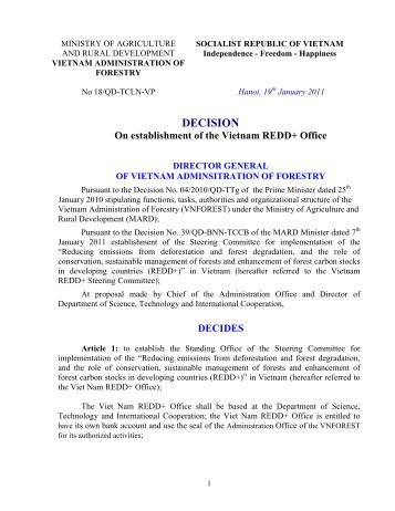 (This document is the reference for Dr - REDD - VietNam