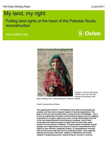 Briefing Note Pakistan Land Rights - Oxfam Blogs