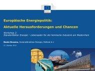 Europäische Energiepolitik: Aktuelle Herausforderungen und ...