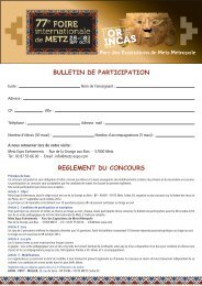 bulletin de participation reglement du concours - Metz-Expo