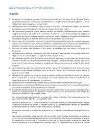 statuts & reglement d'ordre interieur - KKUSH