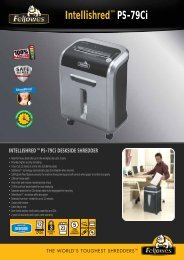 INTELLISHRED™PS-79Ci DESKSIDE SHREDDER - Fellowes