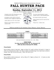 fall hunter pace - Bedford Riding Lanes Association