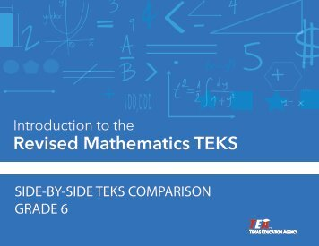 SIDE-BY-SIDE TEKS COMPARISON GRADE 6 - Project Share