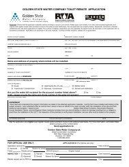 ultra low flush toilet rebate application - Golden State Water Company
