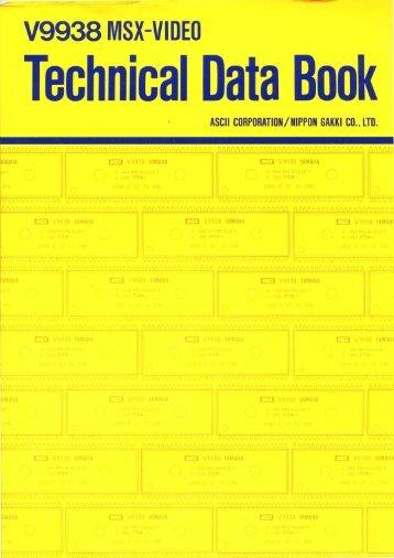 V9938 MSX-VIDEO Technical Data Book