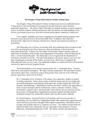 The Douglas Utting Fellowship for Studies in Depression The ...