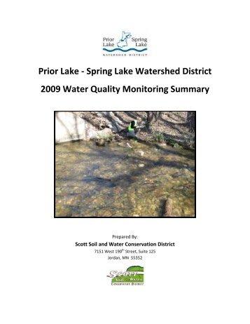 Prior Lake - Spring Lake Watershed District 2009 Water Quality ...