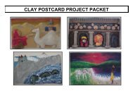 CLAY POSTCARD PROJECT PACKET