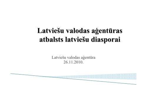 Latviešu valodas aģentūras atbalsts latviešu diasporai