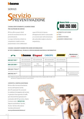 170 free magazines from professionisti bticino it for Bticino professionisti