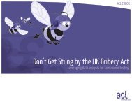 Don't Get Stung by the UK Bribery Act PDF - Acl.com