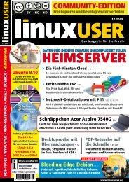 Ausgabe 12/2009 jetzt herunterladen - LinuxUser