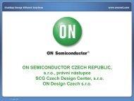 ON SEMICONDUCTOR CZECH REPUBLIC, sro ... - micro.feld.cvut.cz