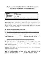 Zápis z 9. jednání Výboru pro infrastrukturu ZHMP - Praha.eu