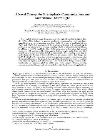 A Novel Concept for Stratospheric Communications ... - Team-Logic