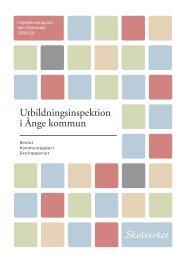 Inspektionsrapport, Ånge (1,6 MB) - Skolverket