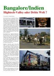Bangalore/Indien Hightech-Valley oder Dritte Welt - Fotoundreisen.de