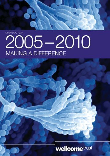 Strategic Plan 2005-2010: Making a difference - Wellcome Trust