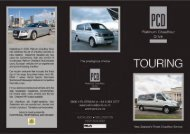 View our Touring Brochure - Platinum Chauffeur Drive