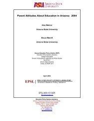 Parent Attitudes About Education in Arizona: 2004 - National ...