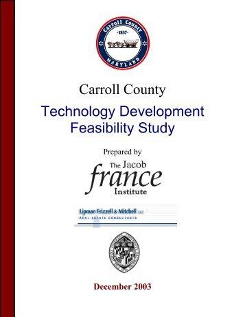 Carroll County Technology Development Feasibility Study