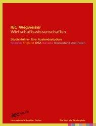 IEC Wegweiser Wirtschaftswissenschaften - Unipilot
