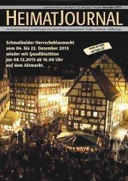 Schmalkalder Herrscheklasmarkt vom 04. bis 22. Dezember 2013 ...
