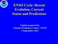 ENSO Cycle: Recent Evolution, Current Status and Predictions - NOAA