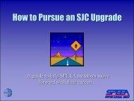 HOW TO PURSUE AN SJC UPGRADE - Speea